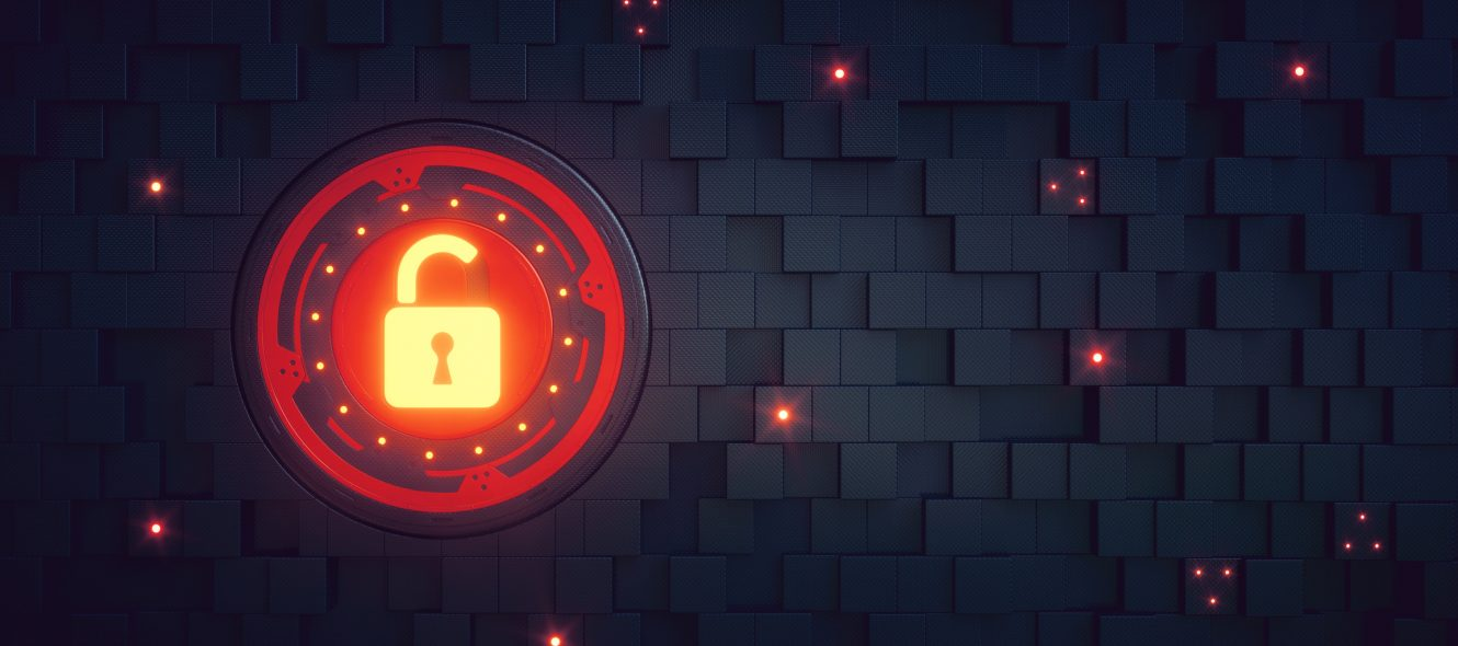 Security Padlock Wallpaper Red